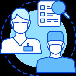 infection and pneumonia prevention icon precare canada